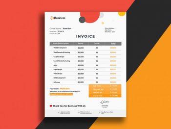 Minimalistic Invoice Free PSD Template