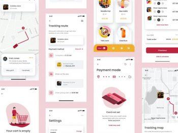 Mino Food Order Free APP UI Kit