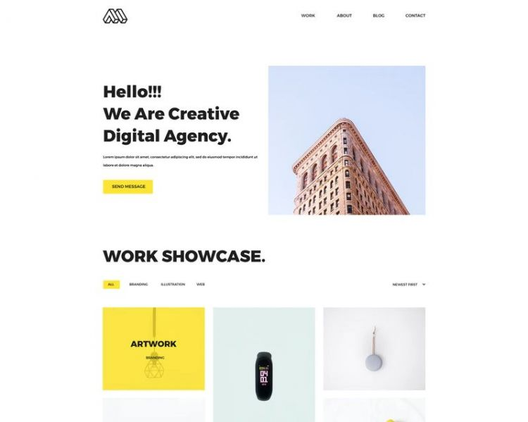 Mint - Free Portfolio Website PSD Template