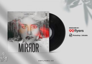 Mirror Sound Free Mixtape CD Cover Template (PSD)