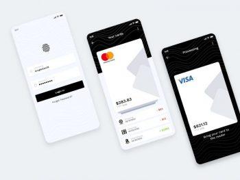 Mobile Wallet App Free UI (XD)
