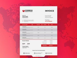 Modern Corporate Invoice Free Template