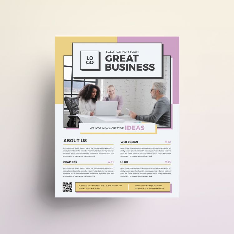 Modern Design Free Business Flyer (PSD)