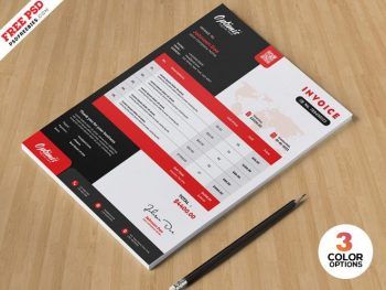 Modern Invoice Free Template (PSD)