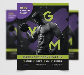 Month of GYM Free Fitness Flyer Template (PSD)