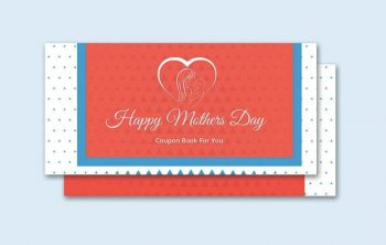 Mother's Day Coupon Book Free Template (PSD)