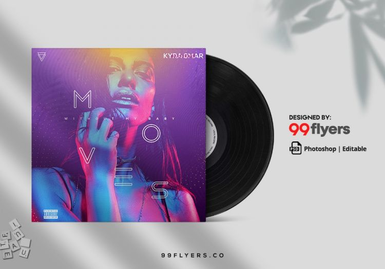Mov Music Free Mixtape CD Cover Template (PSD)