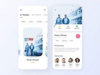 Movie App Design Free UI Figma