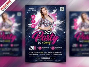 Night Club Event Free Flyer Template (PSD)