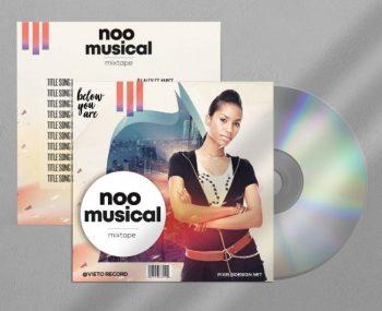 Noo Musical Free CD/Mixtape Cover Template (PSD)