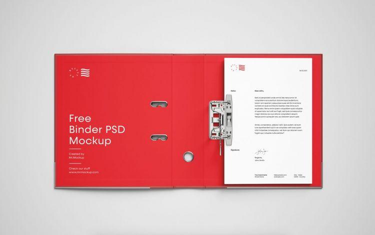 Open Binder Free Mockup (PSD)