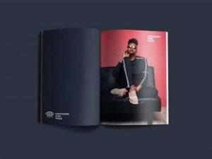 Open Magazine Free Mockup