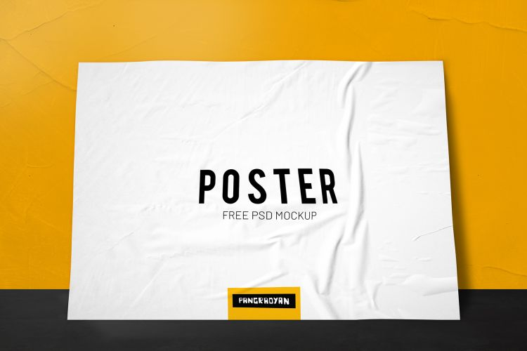 Paper Poster Free Mockup