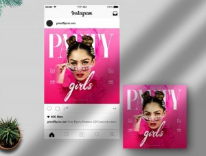 Party Girls Freebie Instagram Template (PSD)