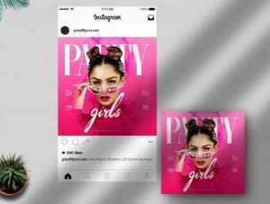 Party Girls Freebie Instagram Template (PSD)