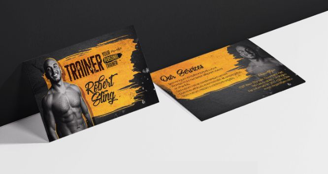 Personal Trainer Free Business Card Template (PSD)
