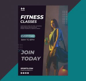 Personal Trainer Free Fitness Flyer Template (PSD)
