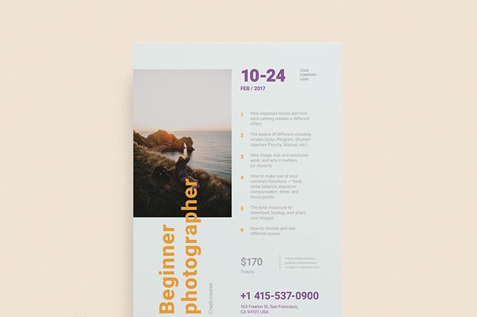 Photographer Freelancer Free Flyer Template