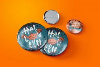 Pin Button Badges Free Mockup