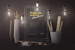 Poster Frame Scene Creator Free Mockup