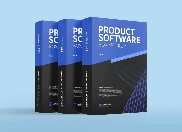 Product Software Box Packaging Free Mockup