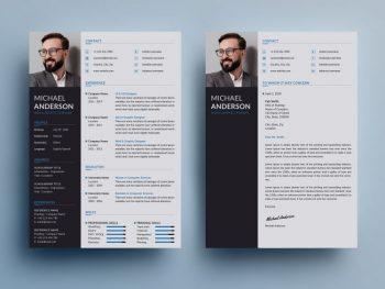 Professional Resume & CV Free Template (PSD)