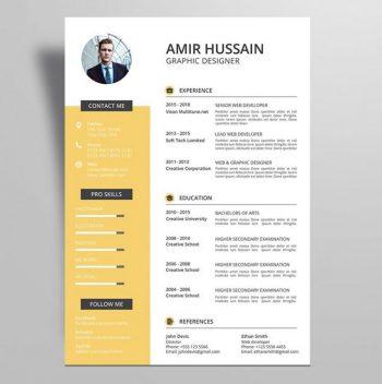 Professional Resume CV Template Free (AI)