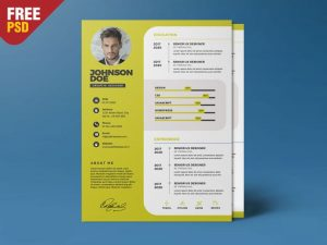 Professional Resume Free PSD Template