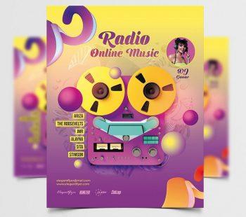 Radio Music Free PSD Flyer Template