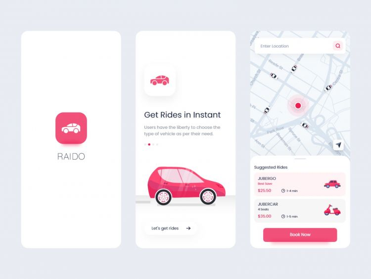 Raido - Ride Sharing App Free XD