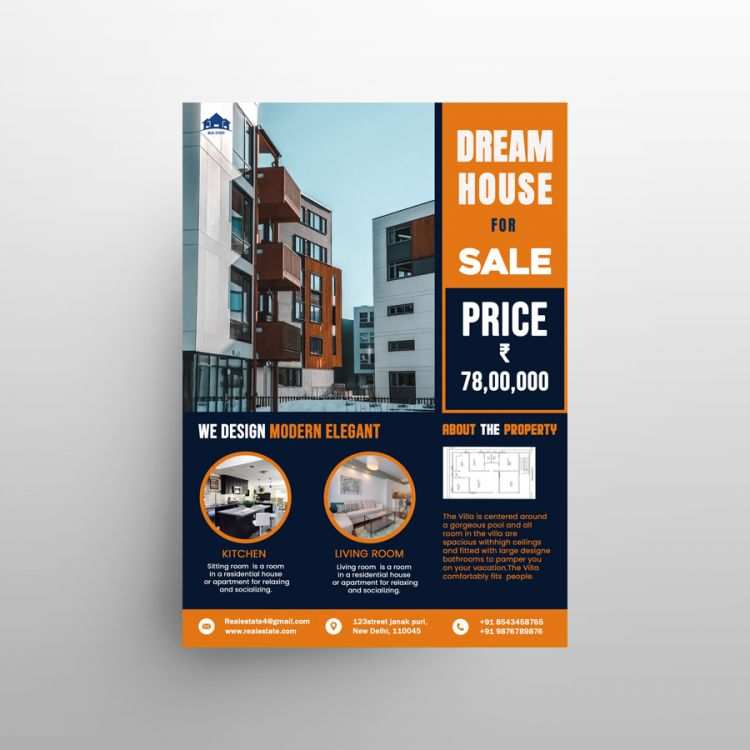 Real Estate Ad Freebie Flyer Template (PSD)