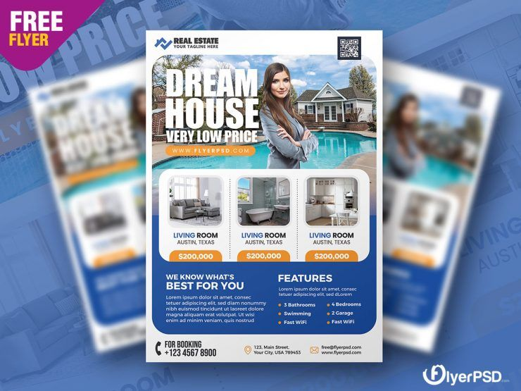Real Estate Free Sale Flyer Template (PSD)