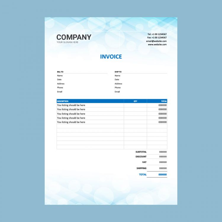 Real Estate Invoice Free Template