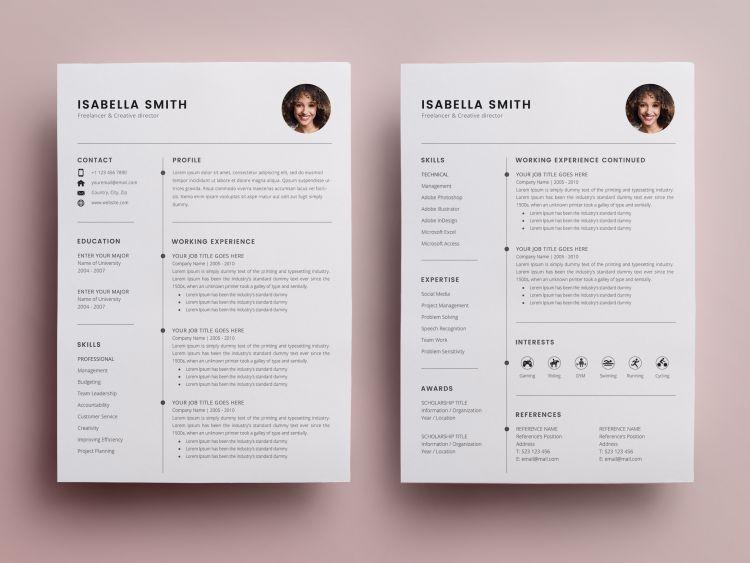 Resume CV Free 3 PSD Templates