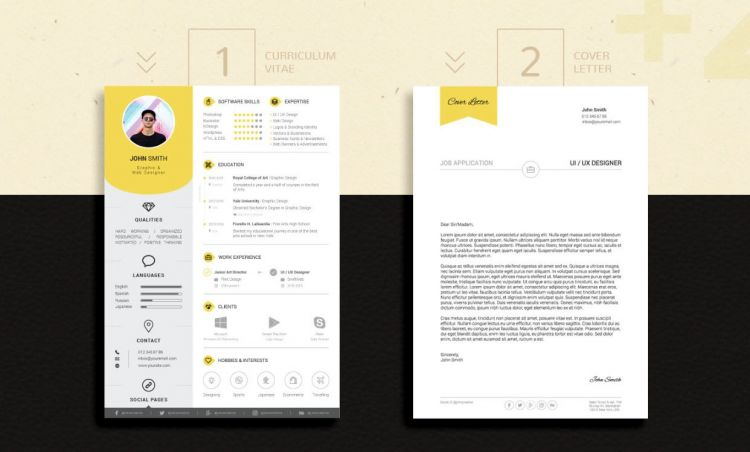 Resume CV and Cover Letter Free Templates
