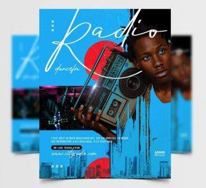 Retro Music Event Free Flyer Template (PSD)
