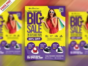 Sale Discount Shop Free Flyer Template (PSD)