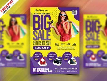 Sale Discount Shop Free Flyer Template (PSD)