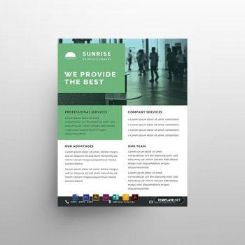 Service Datasheet Free Flyer Template (PSD)