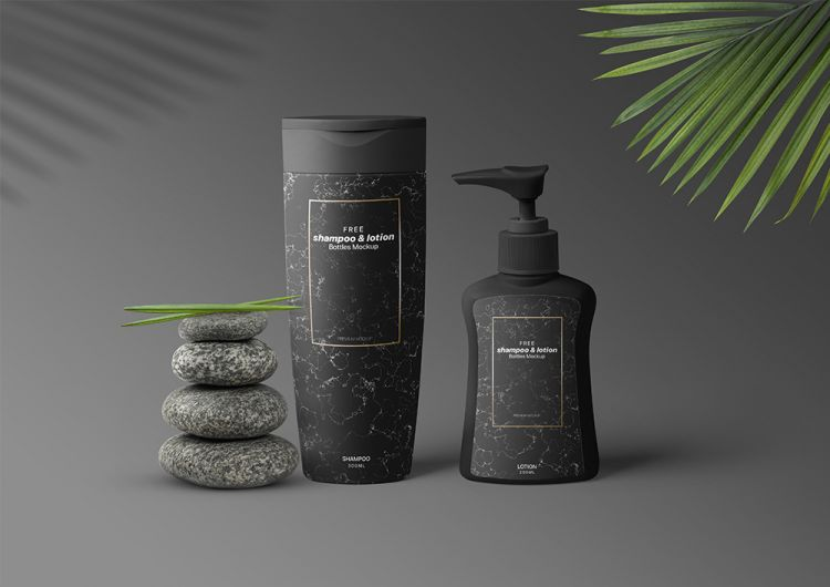 Shampoo & Lotion Pump Bottles Free Mockup