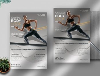 Shape Body Free Fitness Flyer Template (PSD)