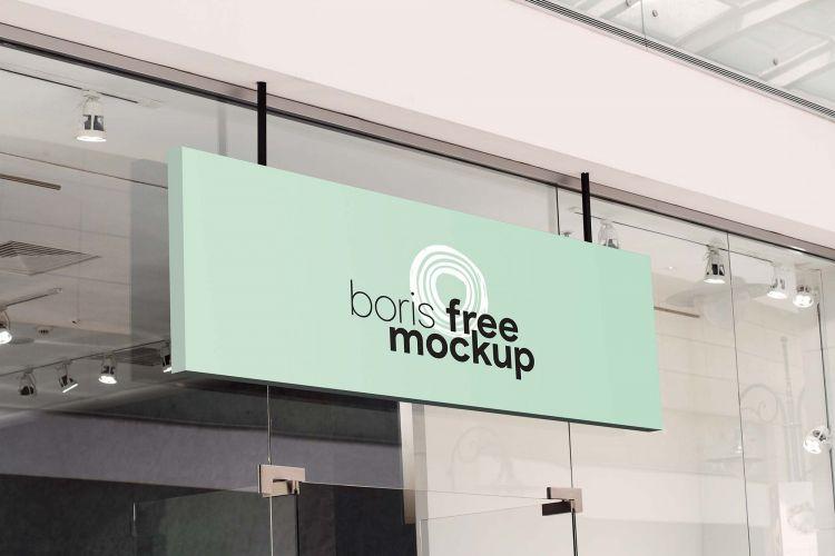 Shop Signage Free Mockup