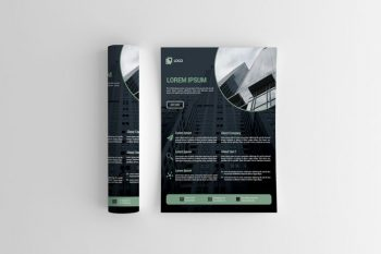 Simple Corporate Free Flyer Template (PSD)