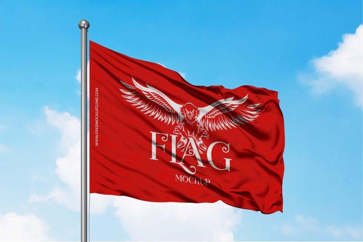 Simple Flag Free Mockup