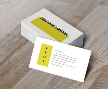 Simple Free Business Card Template (PSD)