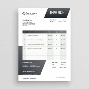 Simple Invoice Free Template (EPS)