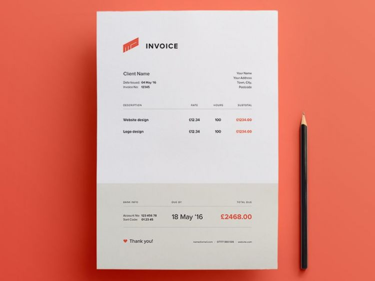 Simple Invoice Free Template