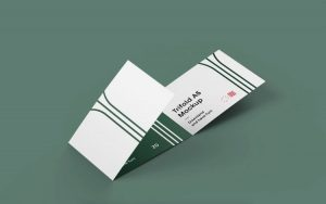 Simple Tri-Fold Brochure Free Mockup