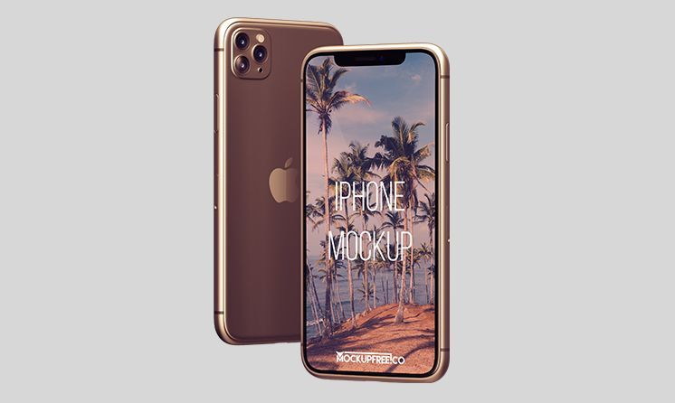 Simple iPhone 11 Pro Free Mockup