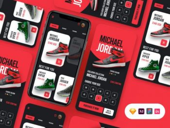 Sneakers Store App UI Free in Sketch